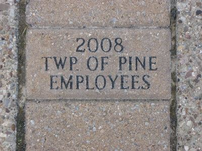 Engraved Brick - 2008 Township of Pine Employees