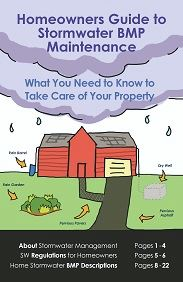 Cover Image from 2017 MS4 Homeowners Guide to Stormwater BMP Maintenance