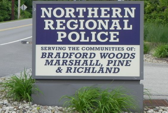 Northern Regional Police Department Sign
